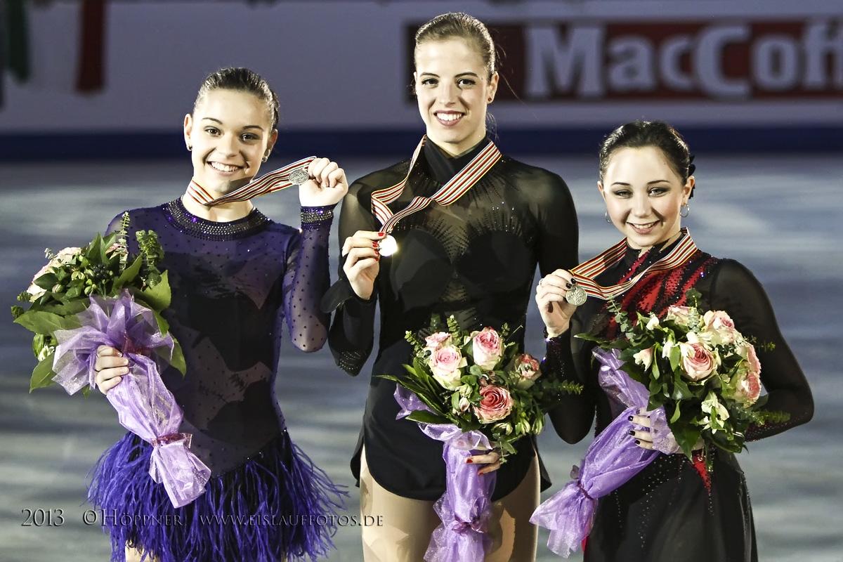 Siegerehrung Damen EM 2013