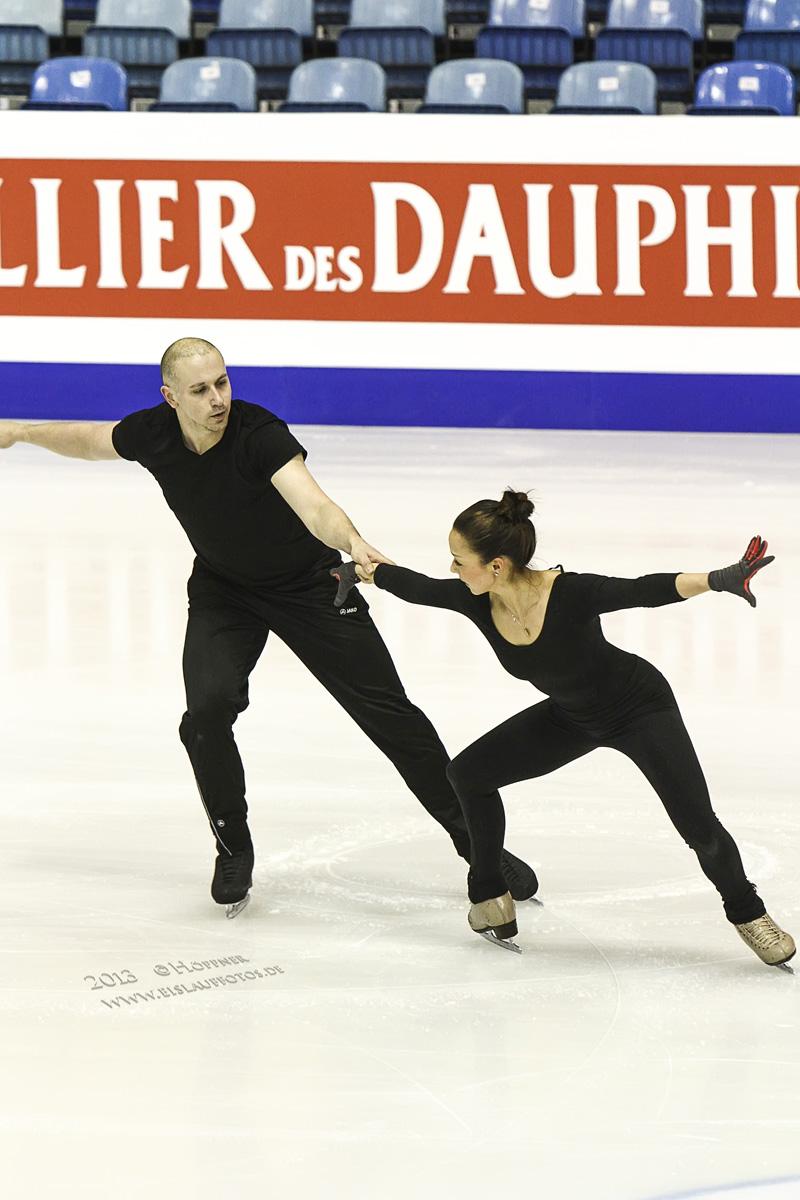 Mari und Aaron EM 2013 Training