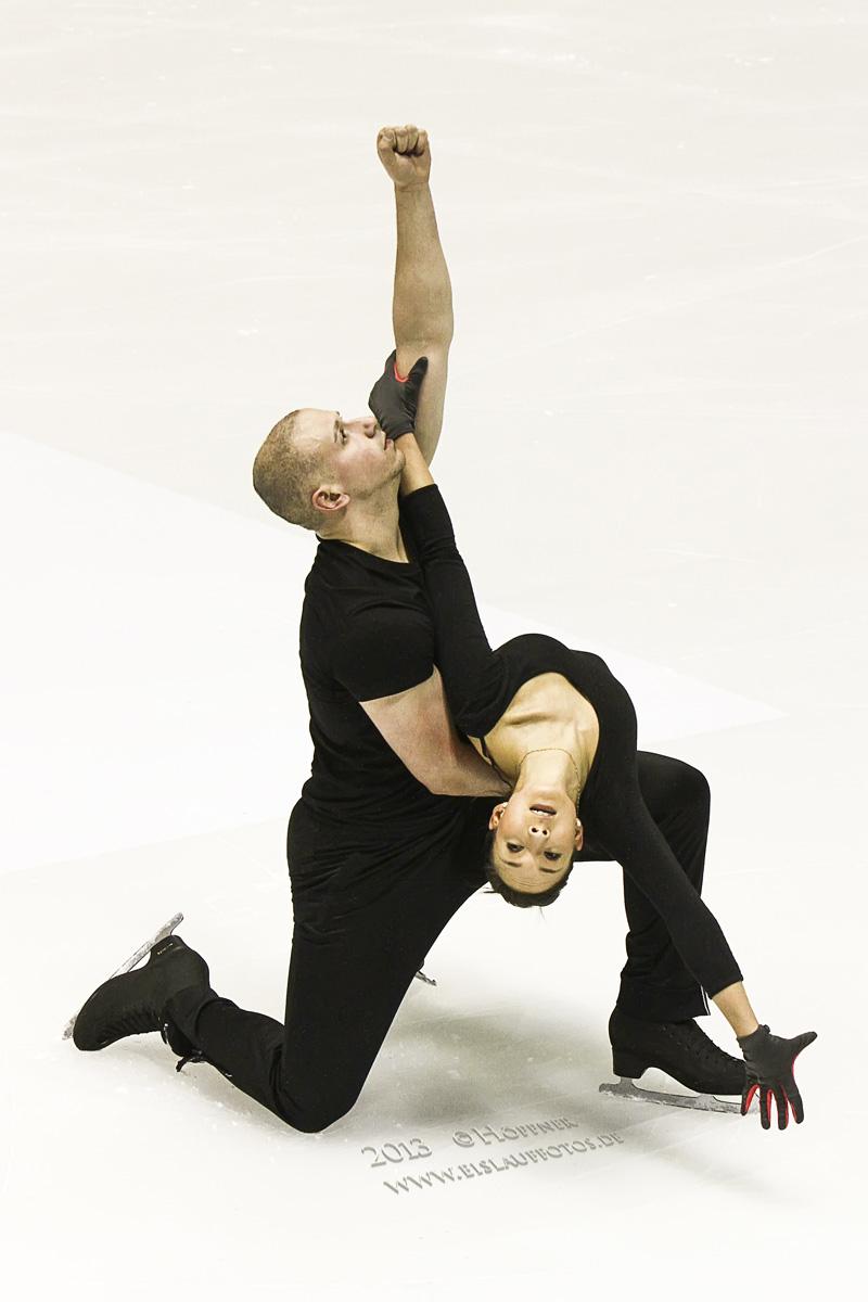 Marie und Aaron Training EM 2013