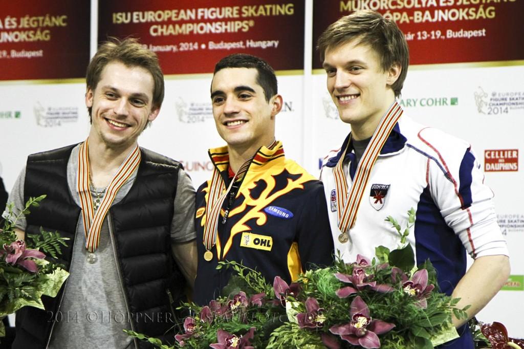 2 Sergei VORONOV (RUS) , 1 Javier FERNANDEZ (ESP) , 3 Tomas VERNER (CZE)