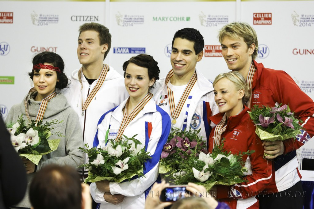 2 Elena ILINYKH-Nikita KATSALAPOV (RUS) ,1 Anna CAPPELLINI-Luca LANOTTE  (ITA) , 3 Penny COOMES-Nicholas BUCKLAND (GBR)