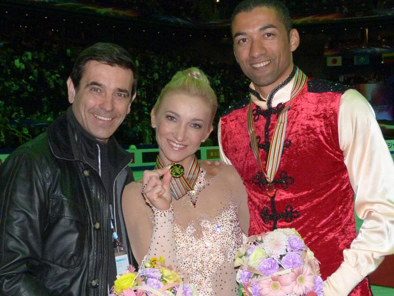 Aljona und Robin mit Ingo Steuer