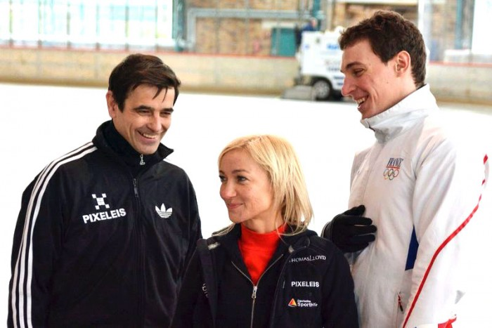 Training Aliona Savchenko, Bruno Massot, Ingo Steuer