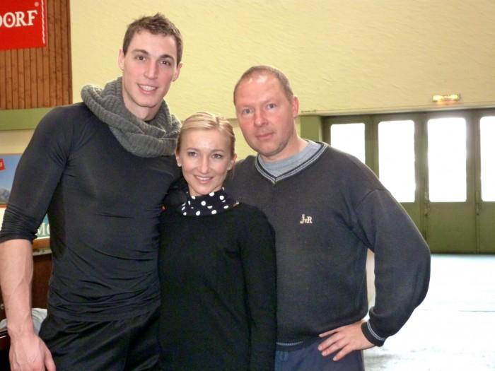 Aljona Savchenk und Bruno Massot mit Alexander König